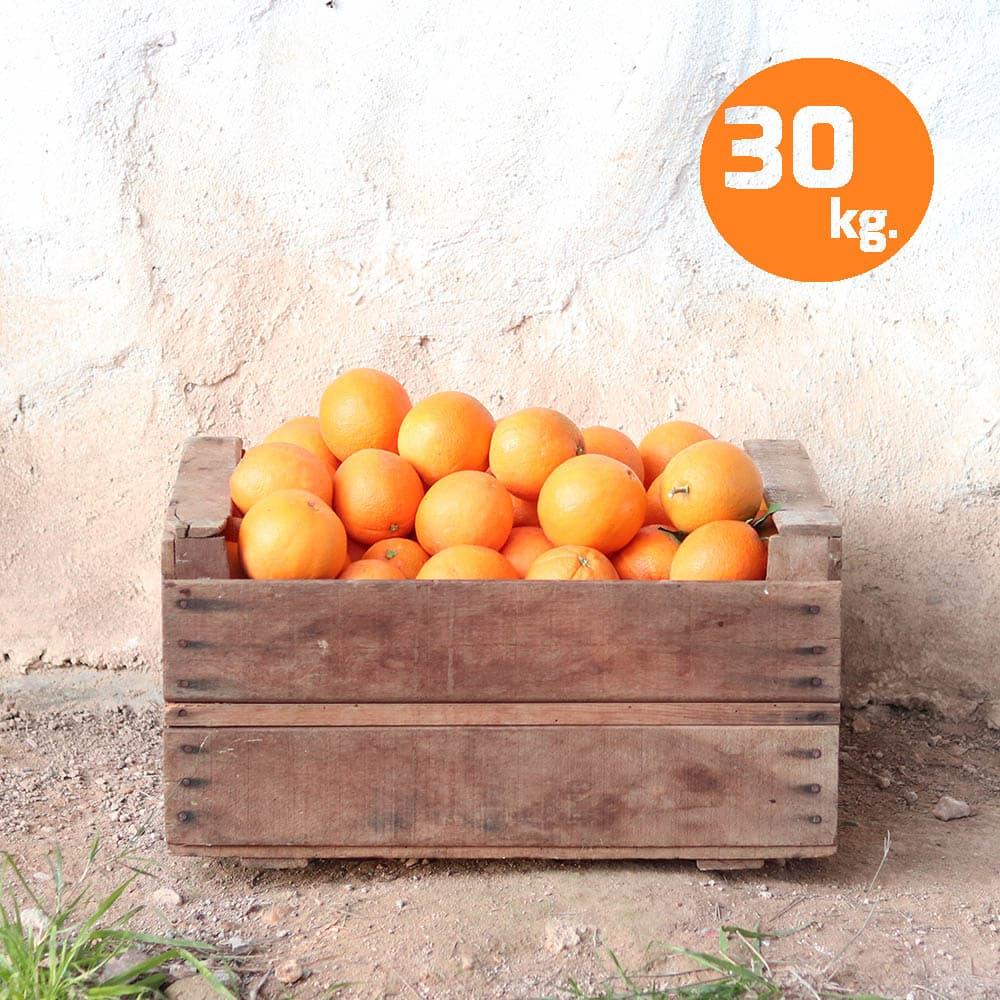 caja de naranjas ecologicas 30 kg
